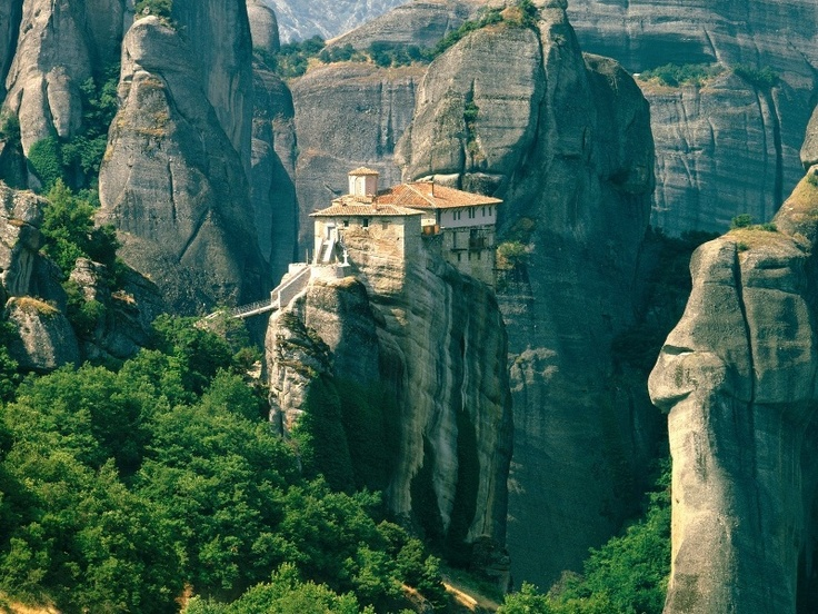 Cliff-top monasteries in Meteora region, Greece. Such a magnificent place!