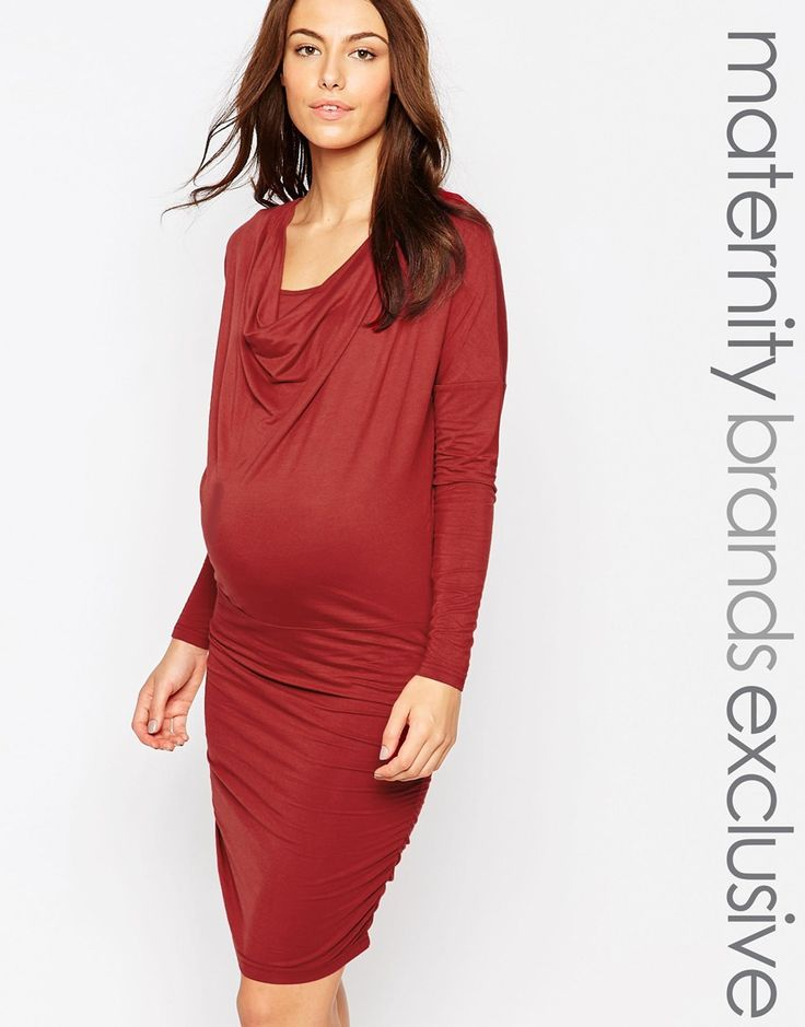 Asos maternity bodycon dress with lace insert jeans