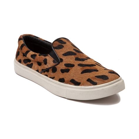 Shop for Womens Steve Madden Ecentric Casual Shoe, Leopard, at Journeys Shoes. The Steve Madden Ecentric is a stylish deviation from the norm. This wild and exotic casual sneaker features a leopard print pony hair upper, midfoot goring for easy slip-on, padded collar, and low profile rubber sole with wavy tread. Available for shipment in July; pre-order yours today!