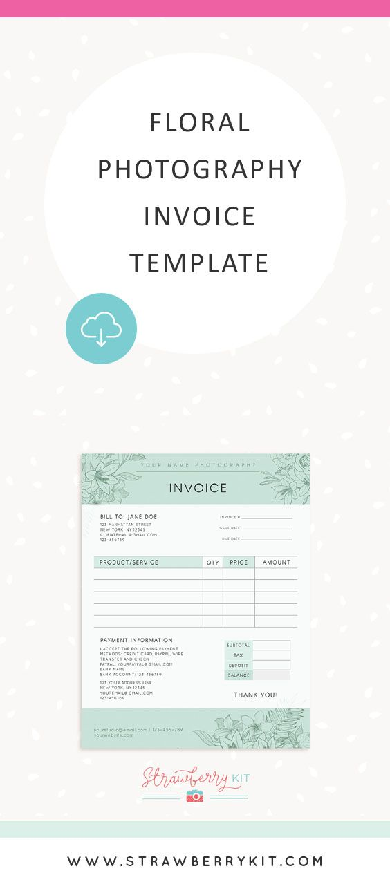 floral photography invoice template photography design templates pinterest photography floral photography and invoice template