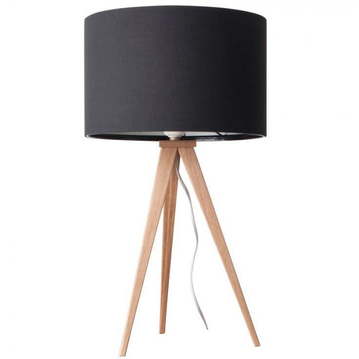 LAMPA STOŁOWA HEAVY WOOD BLACK 597 PLN wys 51 cm