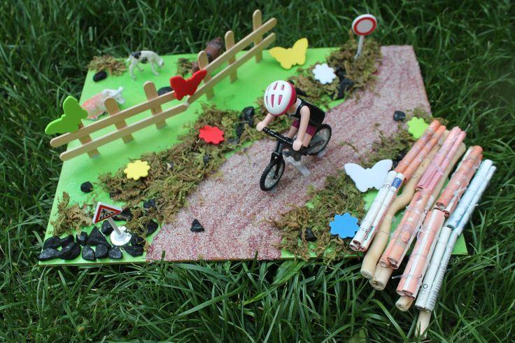 Geldgeschenk Fahrrad (Playmobil)