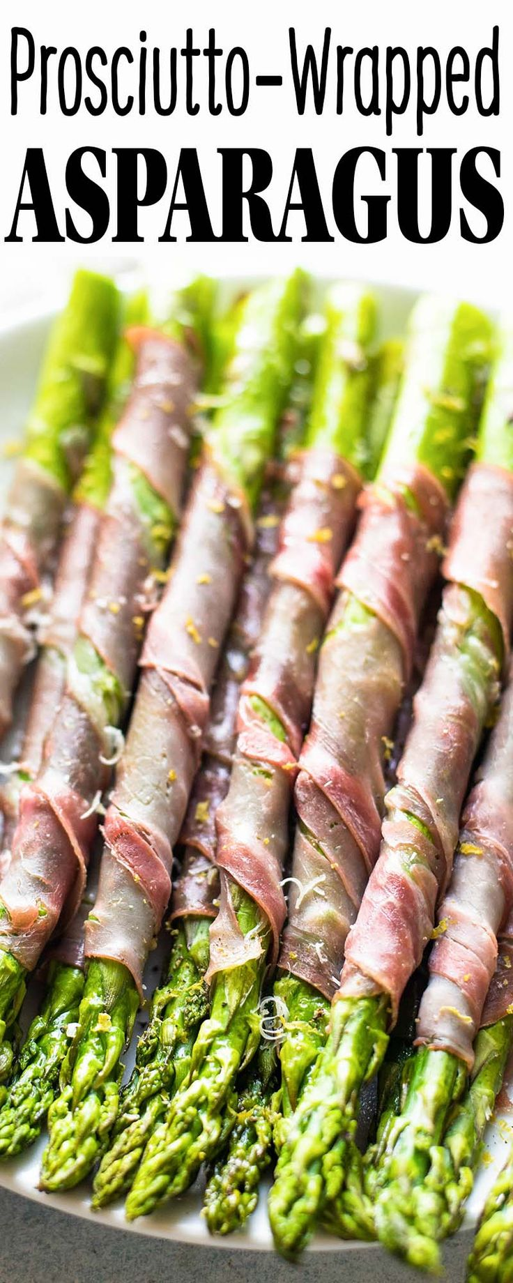 Prosciutto-wrapped asparagus! Such an EASY way to make oven-roasted asparagus feel fancy. Great for Easter, Mother's Day, or any special spring meal!