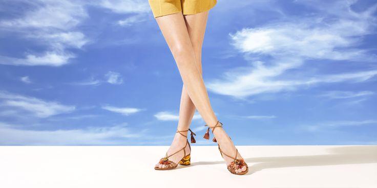 Samba Sandals 5cm block heels in cognac
