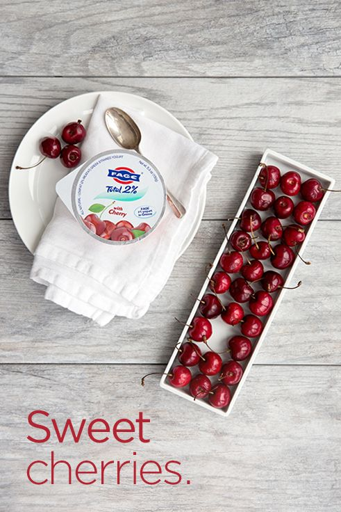 Enjoy the sweet taste of cherries when you try FAGE Total 2% Cherry Split Cup.