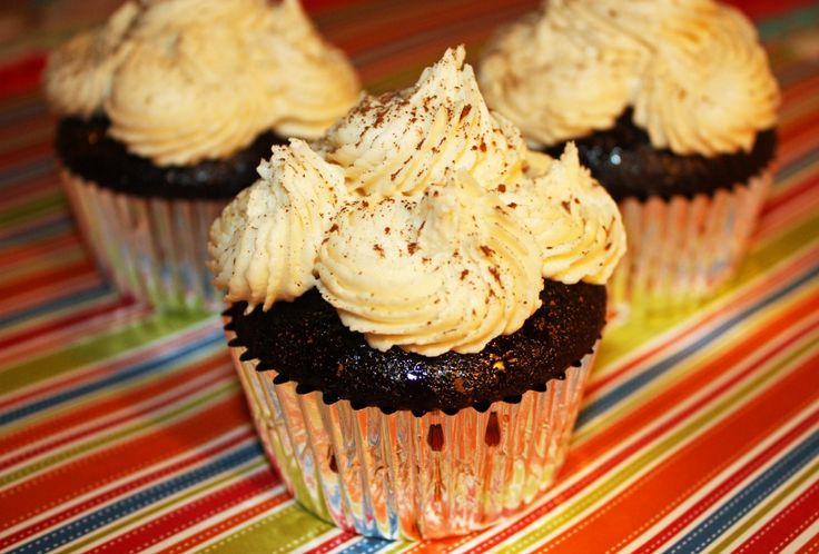 Drenched in Kahlua... these cupcakes are perfect for National Kahlua Day, today!