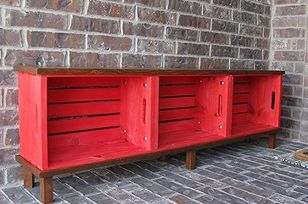Bench from Michael's crates