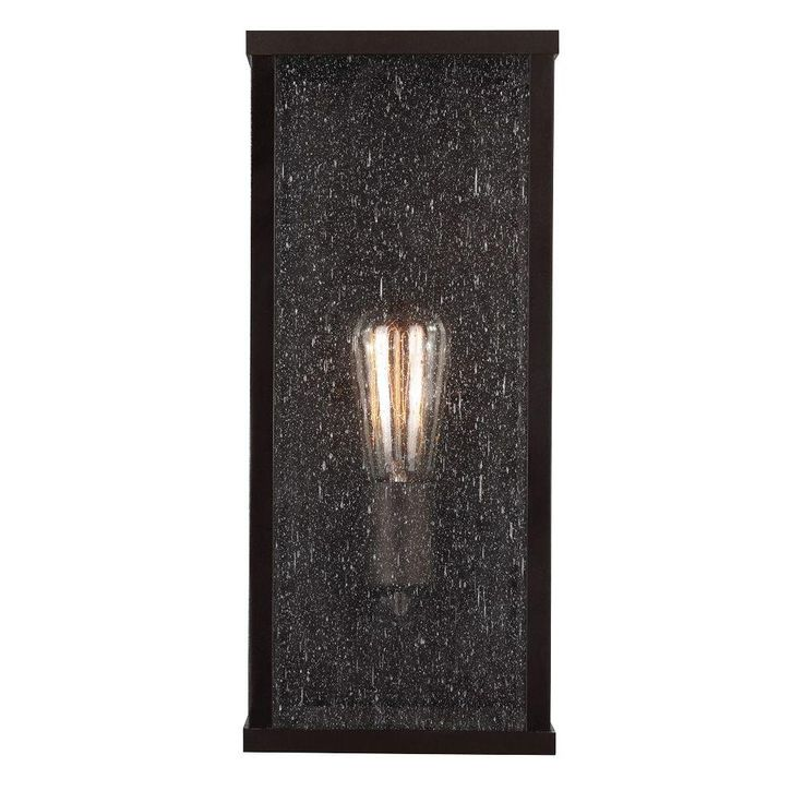 lumiere collection 1light oilrubbed bronze outdoor sconce
