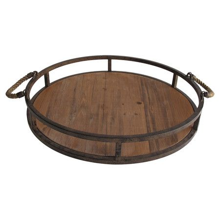 Serve Delectable Hors Du0027oeuvres At Your Next Soiree Or Catch Mail And Keys  On Your Entryway Console With This Eye Catching Wood And Metal Tray, ...