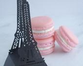 Wedding Favors Macaron Favor Wedding Love Favor Box and (2) French Macaroons. $60,00, via Etsy.
