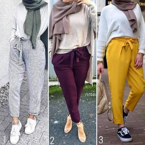 Mixing and matching hijabi pants – Just Trendy Girls