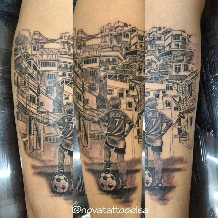 #Futebol #ElisaSales #NovaTattooElisa  #Favela #Sonhos #perspectiva #tattooemandamento
