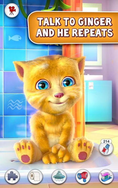 Chú mèo nhại tiếng người màu vàng dễ thương tại game Talking Ginger 2 đã có phiên bản cho Android, java và iphone iPad miễn phí, game crack full màn chơi, hack tiền cần thiết đủ cho việc mua sắm của bạn. Đến với chú mèo vàng ginger đáng yêu, bạn sẽ được trải nghiệm những cảm xúc như game my talking tom mang lại, đồng thời bạn sẽ có thêm nhiều điều mới mẻ và thú vị hơn, bởi tiếng của mèo ginger trong game Talking Ginger crack có vẻ nhỏ nhe và bị bóp méo trở nên rất buồn cười.