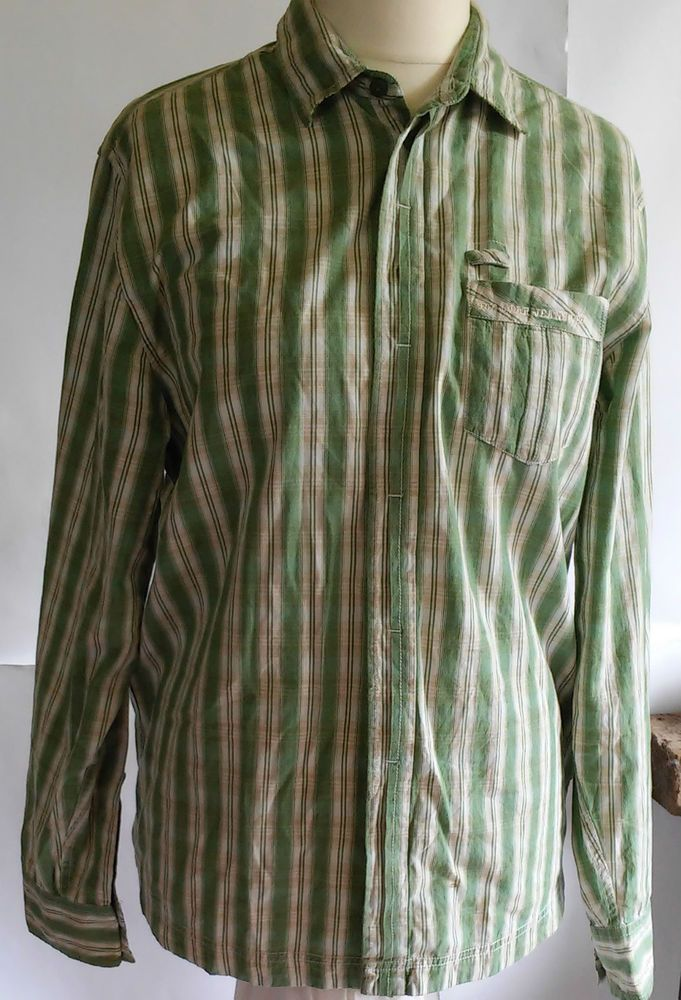 BIG STAR  shirt long sleeve in the box green size M