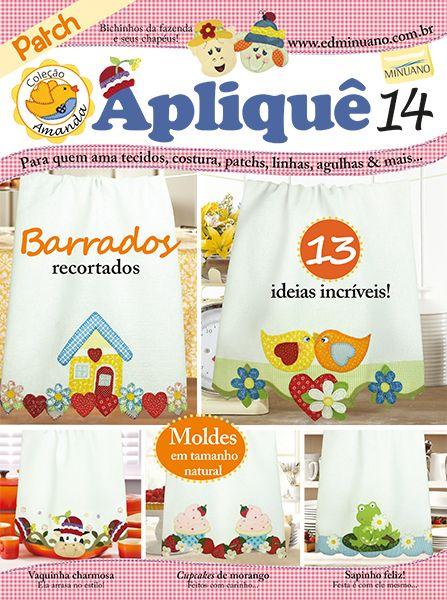 Artesanato - Apliquê - Patchwork : COL AMANDA APLIQUE 014 - Editora Minuano