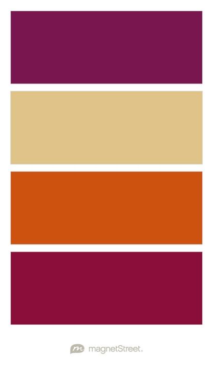 Sangria, Gold, Pumpkin, and Burgundy Wedding Color Palette - custom color palette created at MagnetStreet.com