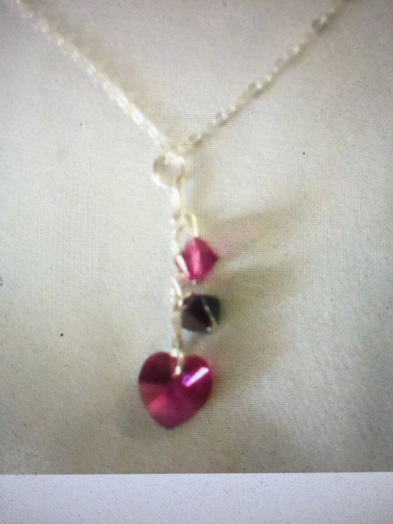 Swarovski crystals Necklace Pretty Elegant Heart by uniquethings