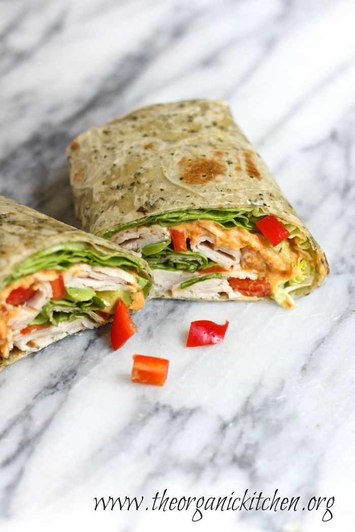 The Hummus Turkey Wrap Five Minute Lunch!