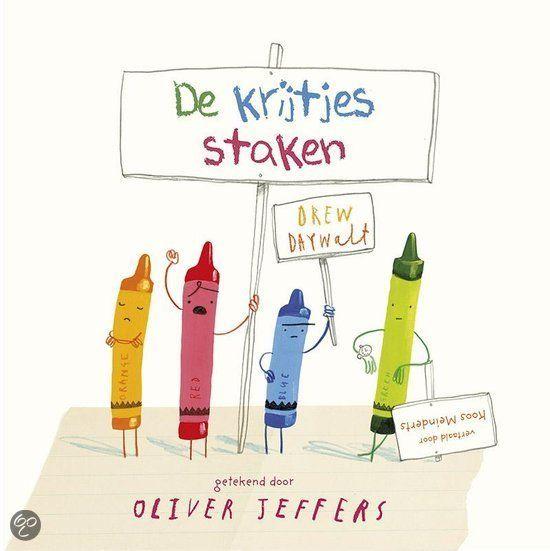 De krijtjes staken van Oliver Jeffers AK Prentenboeken 2014 Emoties Kleuren Zilveren Griffel 2015