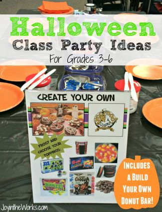 Searching for ideas for your Halloween Class Party for your older kids? Check out these activities for including a decorate your own donut bar! Great for 3rd, 4th, 5th and 6th grade!