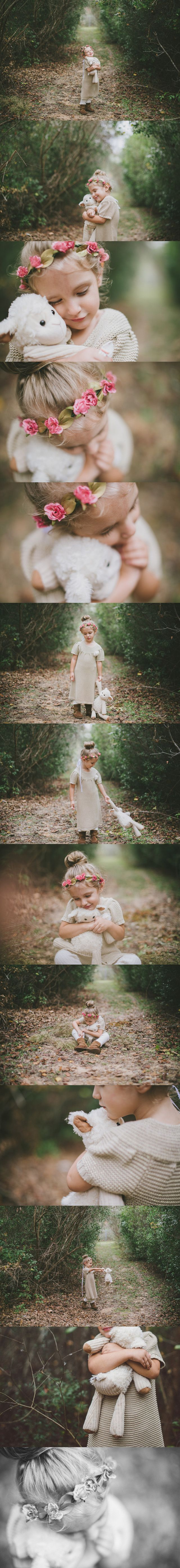 'In one month, she will be four. I am celebrating these last few weeks of her being just three. This shoot is just that, this little one being entirely herself.