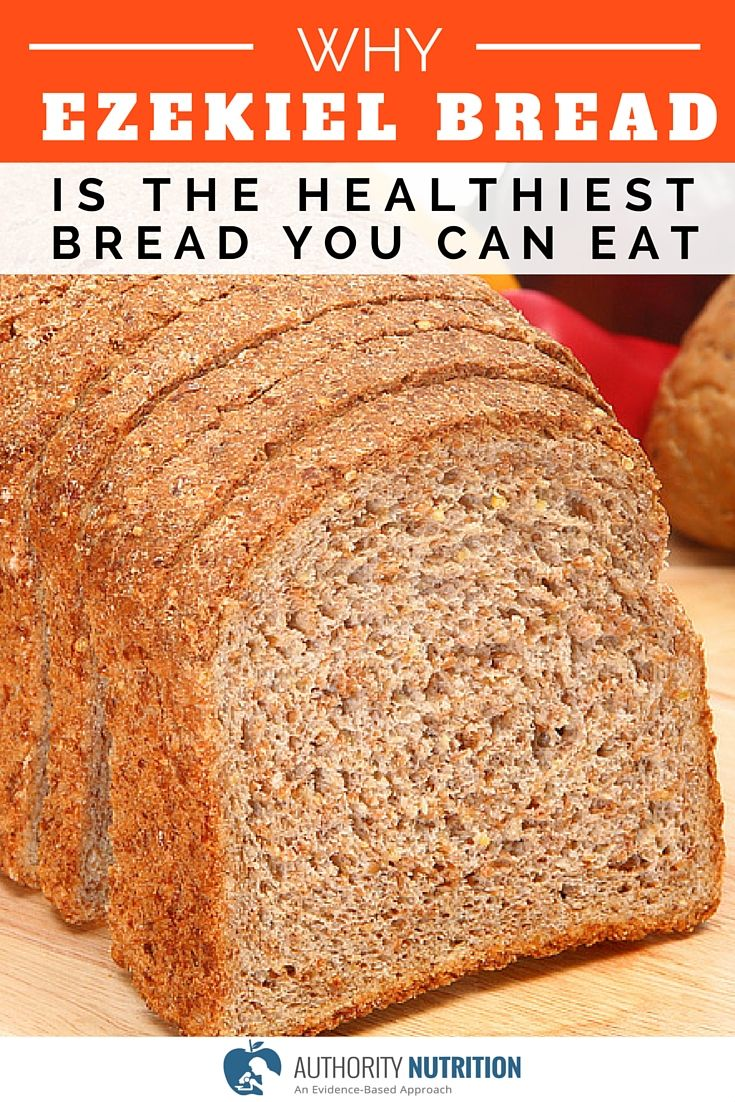 Ezekiel bread is made from sprouted grains and doesn't contain added sugars. It is much healthier than most commercial breads on the market. Learn more here: http://authoritynutrition.com/ezekiel-bread/