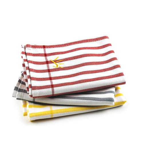 ENJO Bamboo T-towel - Softer, greener and more absorbent than its cotton counterparts, the bamboo-based fibre dries dishes, cutlery, glasses, cookware and more. Find them at www.enjo.com.au