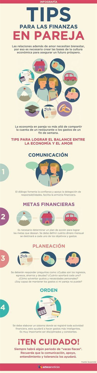 Infografía: Consejos para las finanzas en pareja Coaching, Financial Tips, Relationship Tips, Better Life, Personal Finance, Good To Know, Online Business, Business Tips, How To Make Money