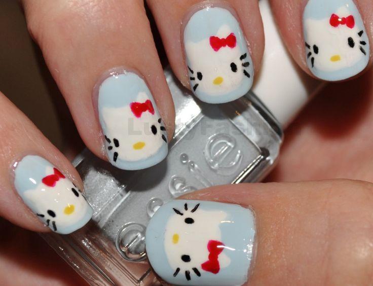 Hello kitty Gel nail art designs