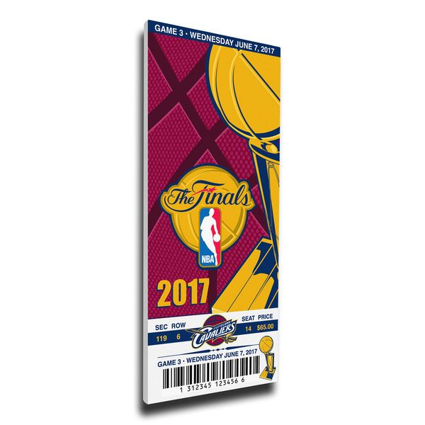 Cleveland Cavaliers vs. Golden State Warriors 2017 NBA Finals Dueling Game 3 Small Mega Ticket - $69.99