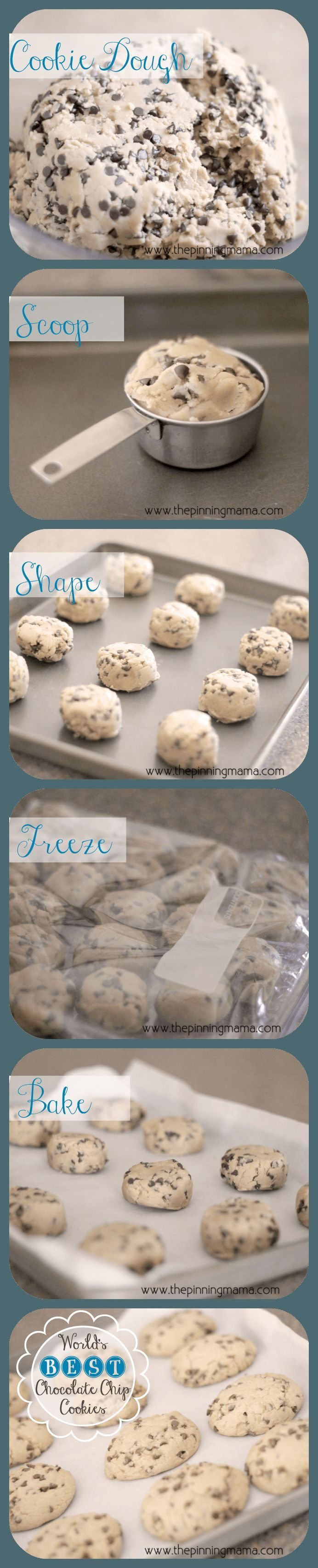 {Copycat} Panera Chewy Chocolate Chip Cookies by http://www.thepinningmama.com