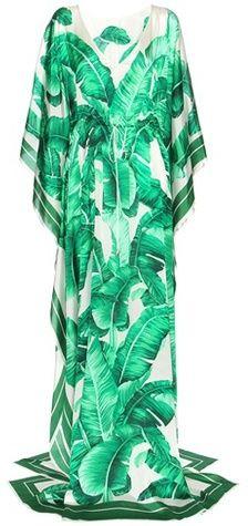 Dolce & Gabbana Printed Silk Kaftan