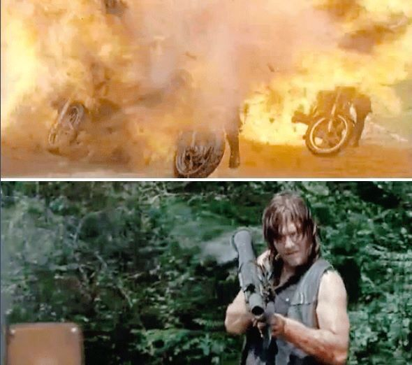 The walking dead 4 minutes into the episode and I'm reminded why Daryl is awsome!!