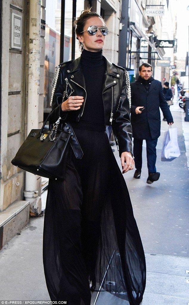 Alessandra Ambrosio looks effortlessly stylish as shops in ParisClaudia Alvarez