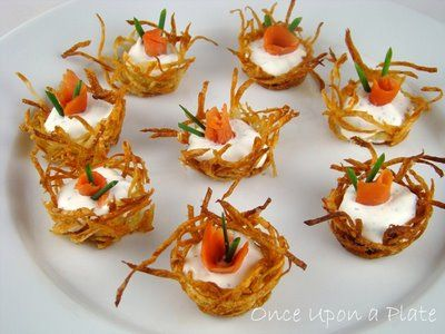 Once Upon a Plate: Smoked Salmon and Crème Fraîche in Tiny Potato Nests