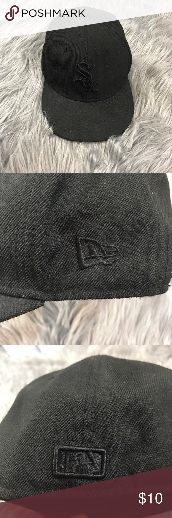 Toddler Boy New Era Sox Baseball All Black Hat Great condition! Size 6 1/2 best fit for ages 1-3 New Era Accessories Hats