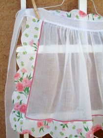 Love the look of this sheer apron