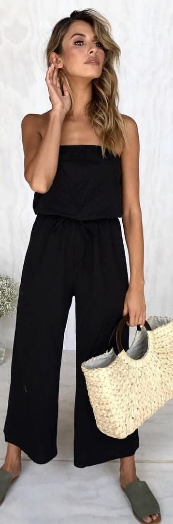 #winter #outfits black pants rompers