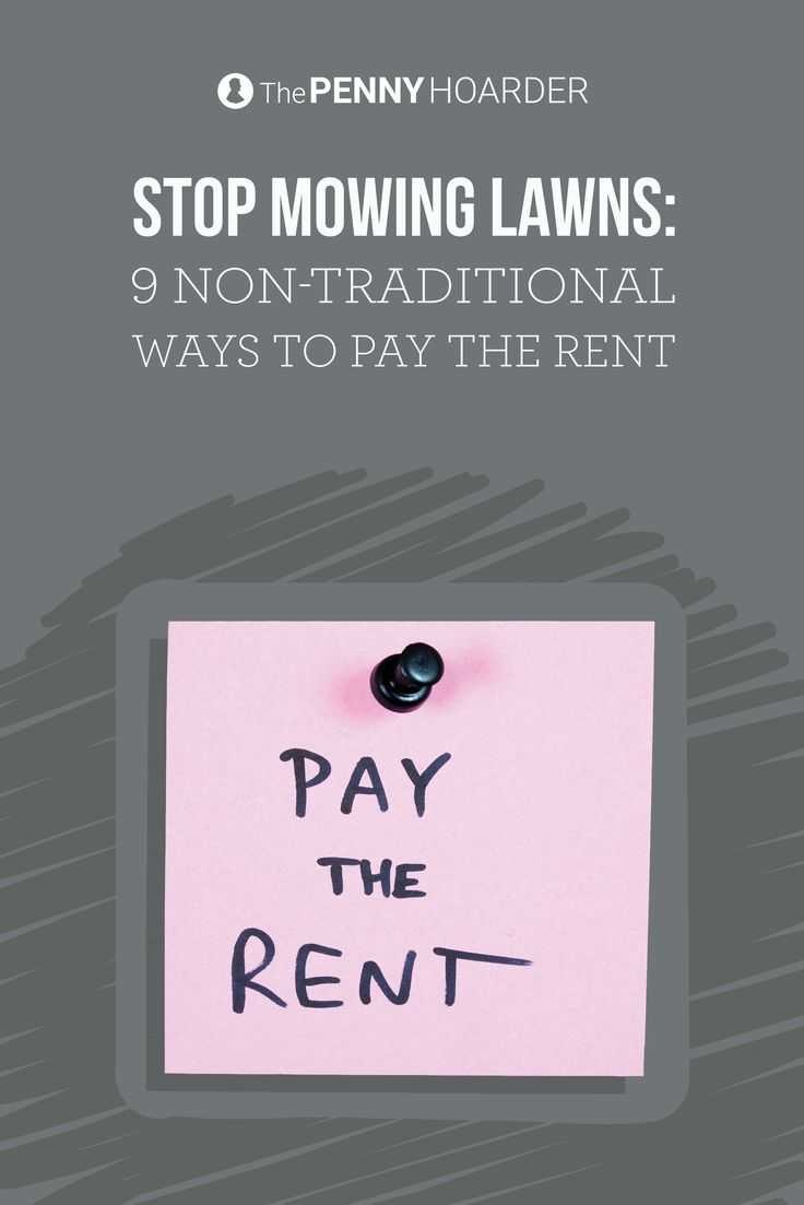 Your rent payment is likely one of your biggest expenses, but that doesn't mean you need to mow lawns or sell bodily fluids. Try these nine strategies... - The Penny Hoarder /thepennyhoarder/