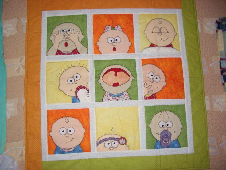 Colcha bebe patchwork colchas infantiles pinterest - Colchas patchwork infantiles ...