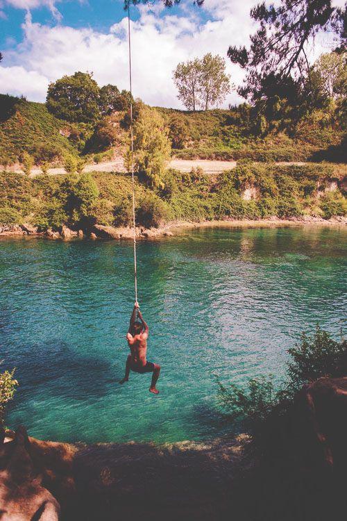 Summer fun #lake #swing #swim
