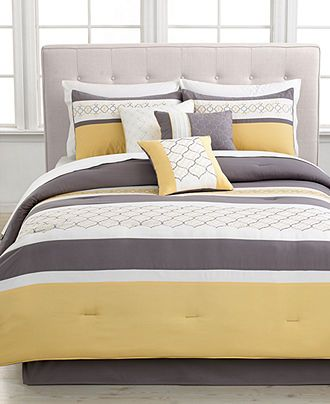 Viscaya 7 Piece California King Embroidered Comforter Set- Macy's
