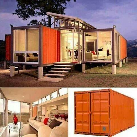 love these houses made out of old shipping containers and semi