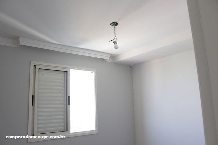 O gesso e a iluminação do meu apê (Spots Super LED e  ~ Bancada Para Quarto Em Gesso