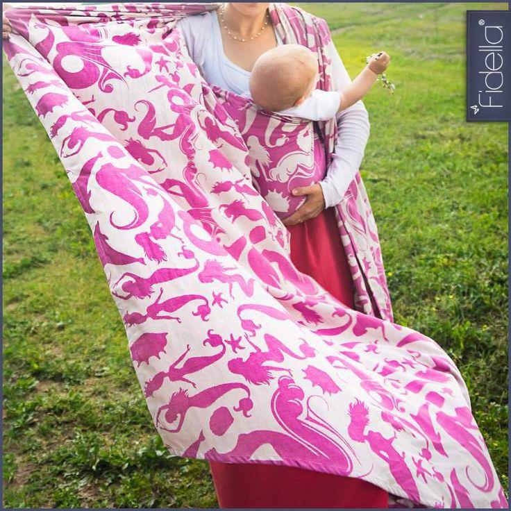 Fidella babywrap -Sirens Raspberry