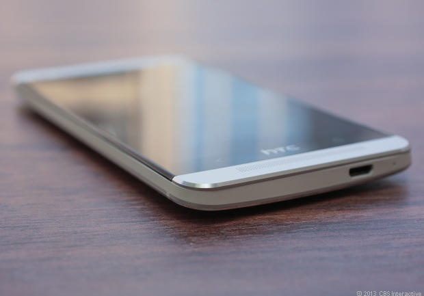 HTC One chamfered edges close-up