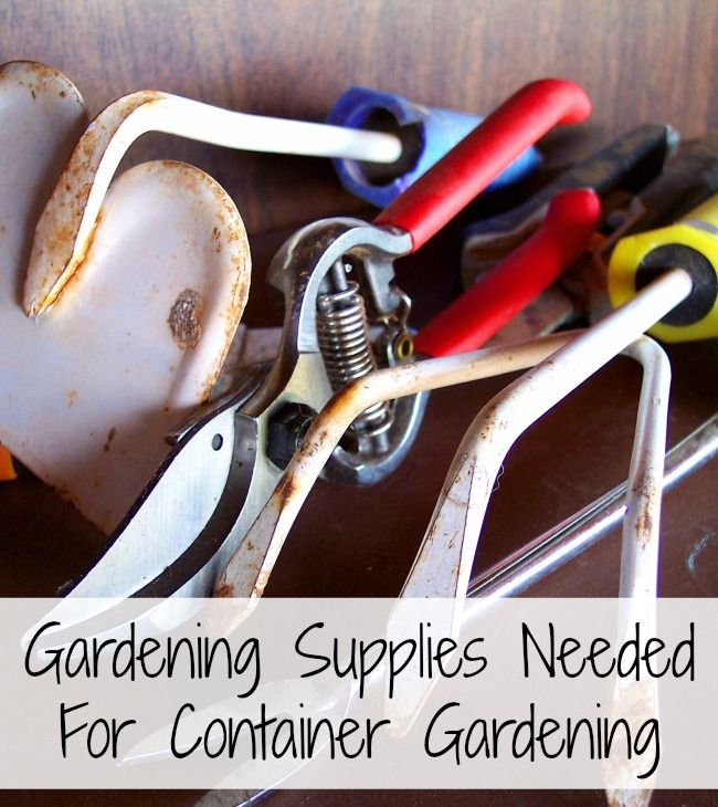 28 best images about cheap and easy container gardening on for Gardening tools required