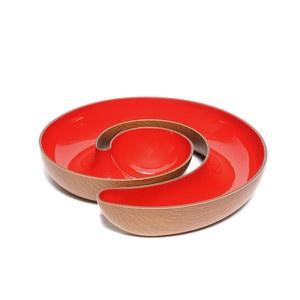 Schale Mahagoni-Rot