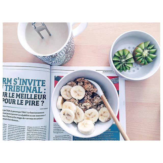 | Good #breakfast this #morning 🗞 #healthy #food #psycho #chailatté