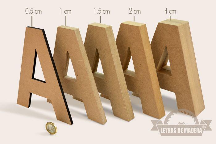 Grosor - Letras de madera & Wooden letters